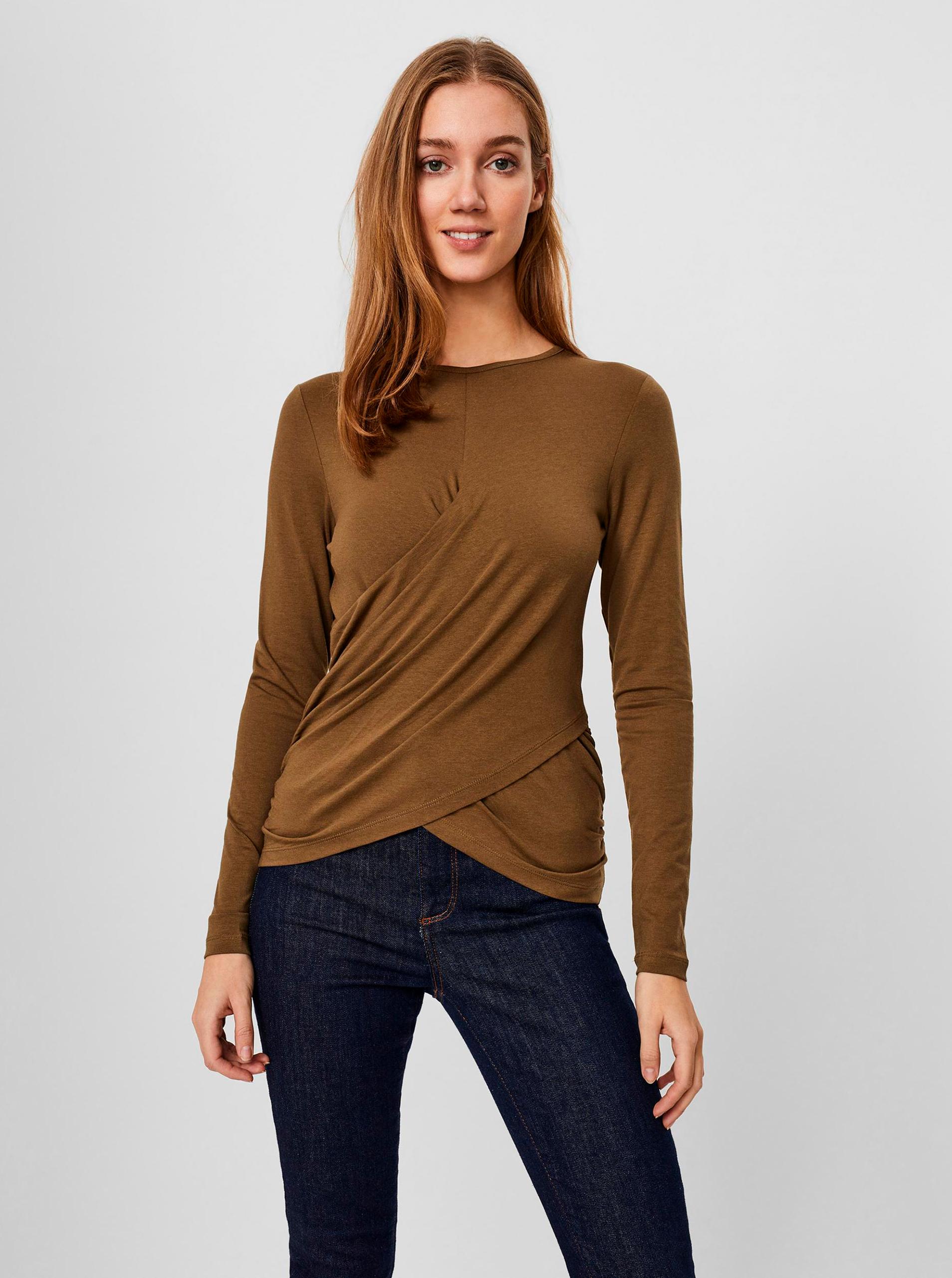 Vero Moda hnědé tričko