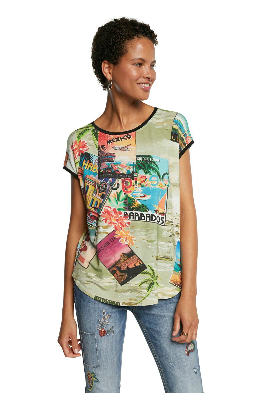 Desigual barevné tričko TS Colombia