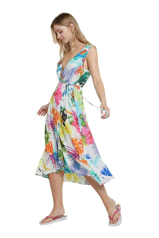 Desigual barevné letní šaty Vest Seychelles