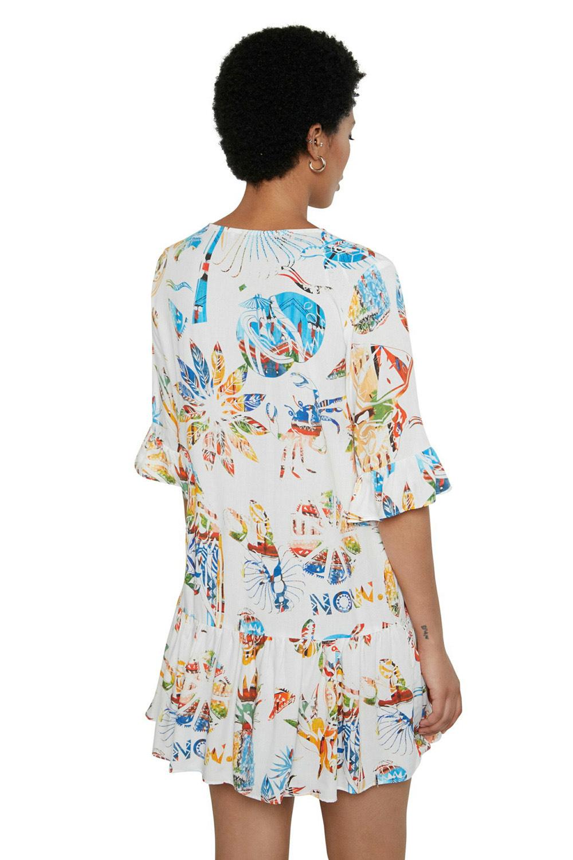 Desigual bílé letní šaty Vest Lombok