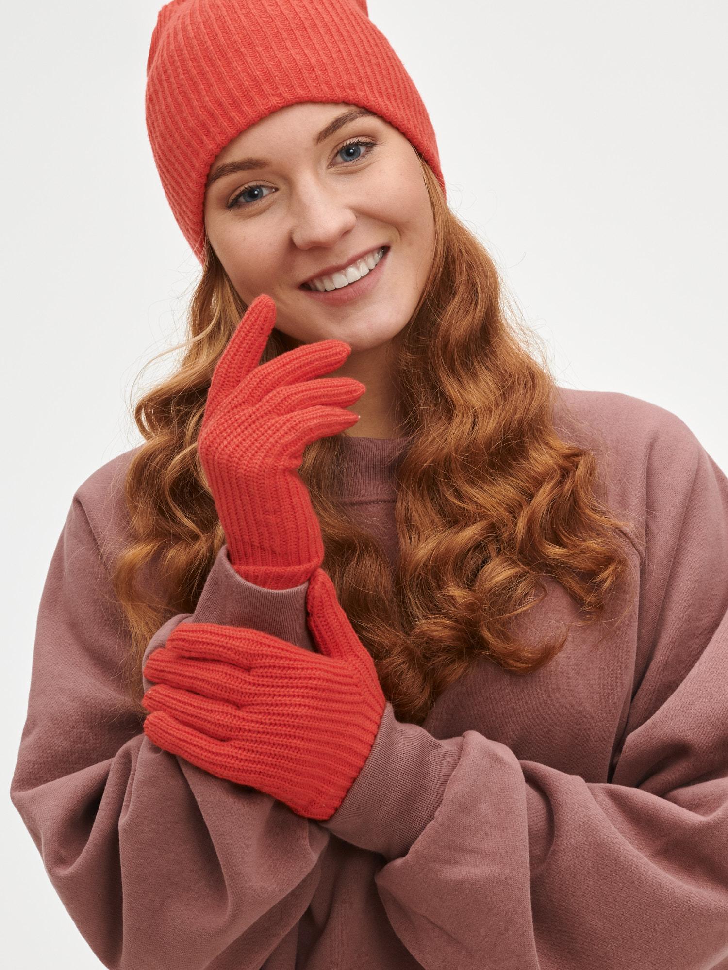 GAP červené dámské rukavice - ONESIZE