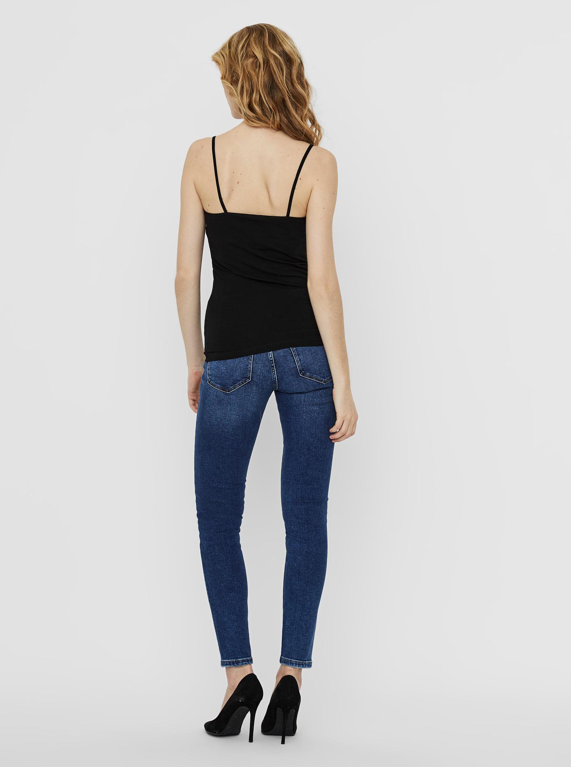 Vero Moda 2 pack tílek v černé a bílé barvě Inge