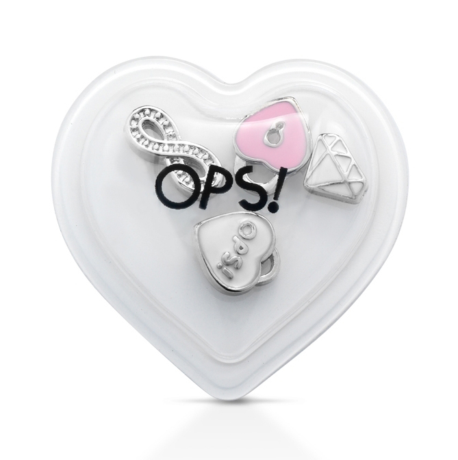 Ops! Objects mini pop ozdoby E 'MY OPS! LOVE Diamant