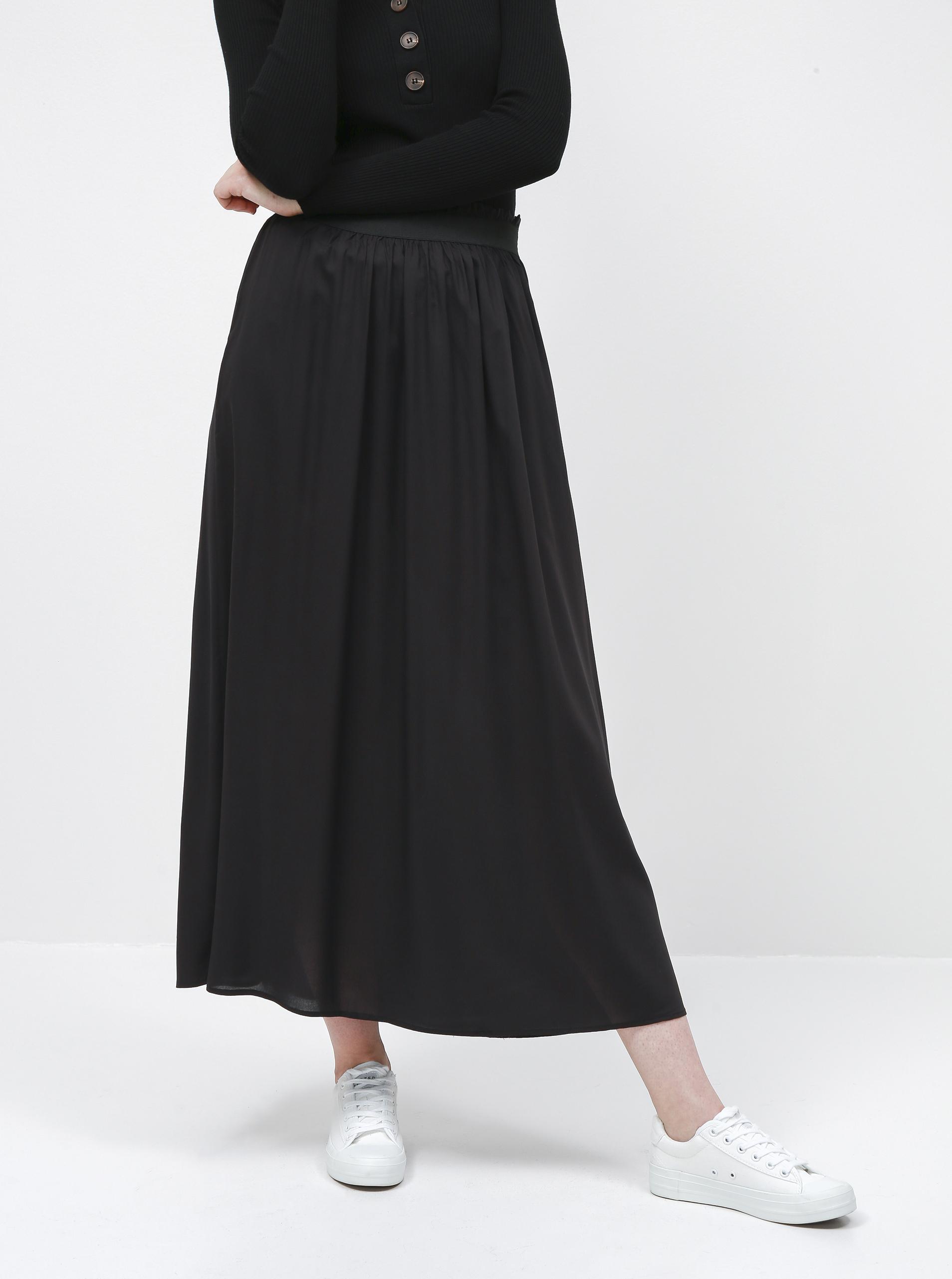 Only černá dámská dlouhá sukně Venedig - XS