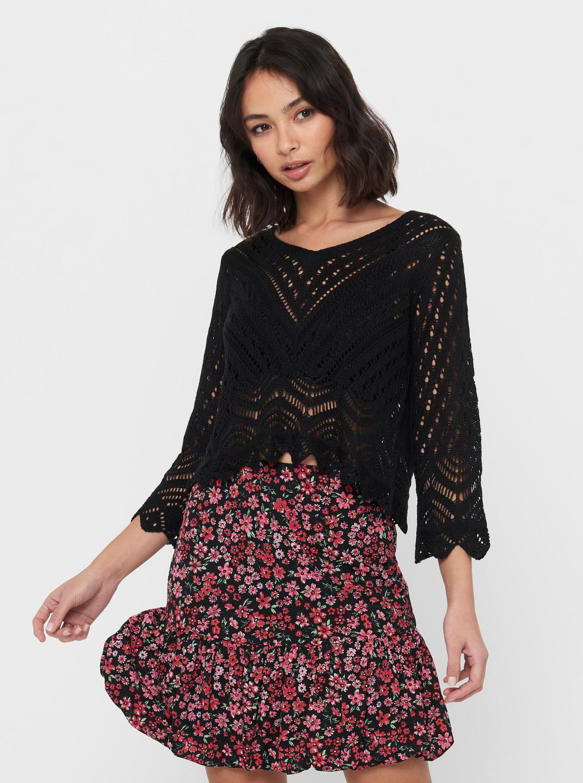 Jacqueline de Yong černý dámský svetr - L