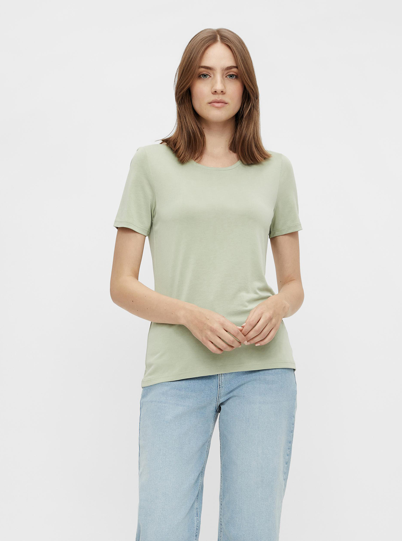 Pieces zelené basic tričko Kamala