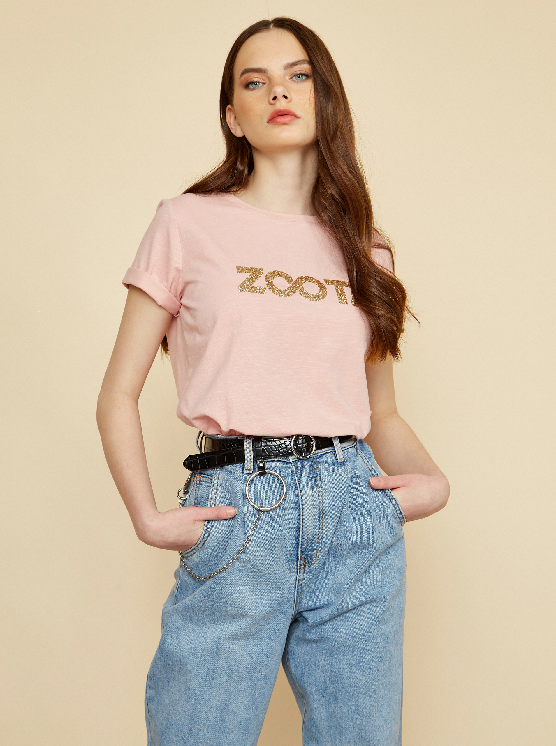 ZOOT růžové dámské tričko Lucy s potiskem