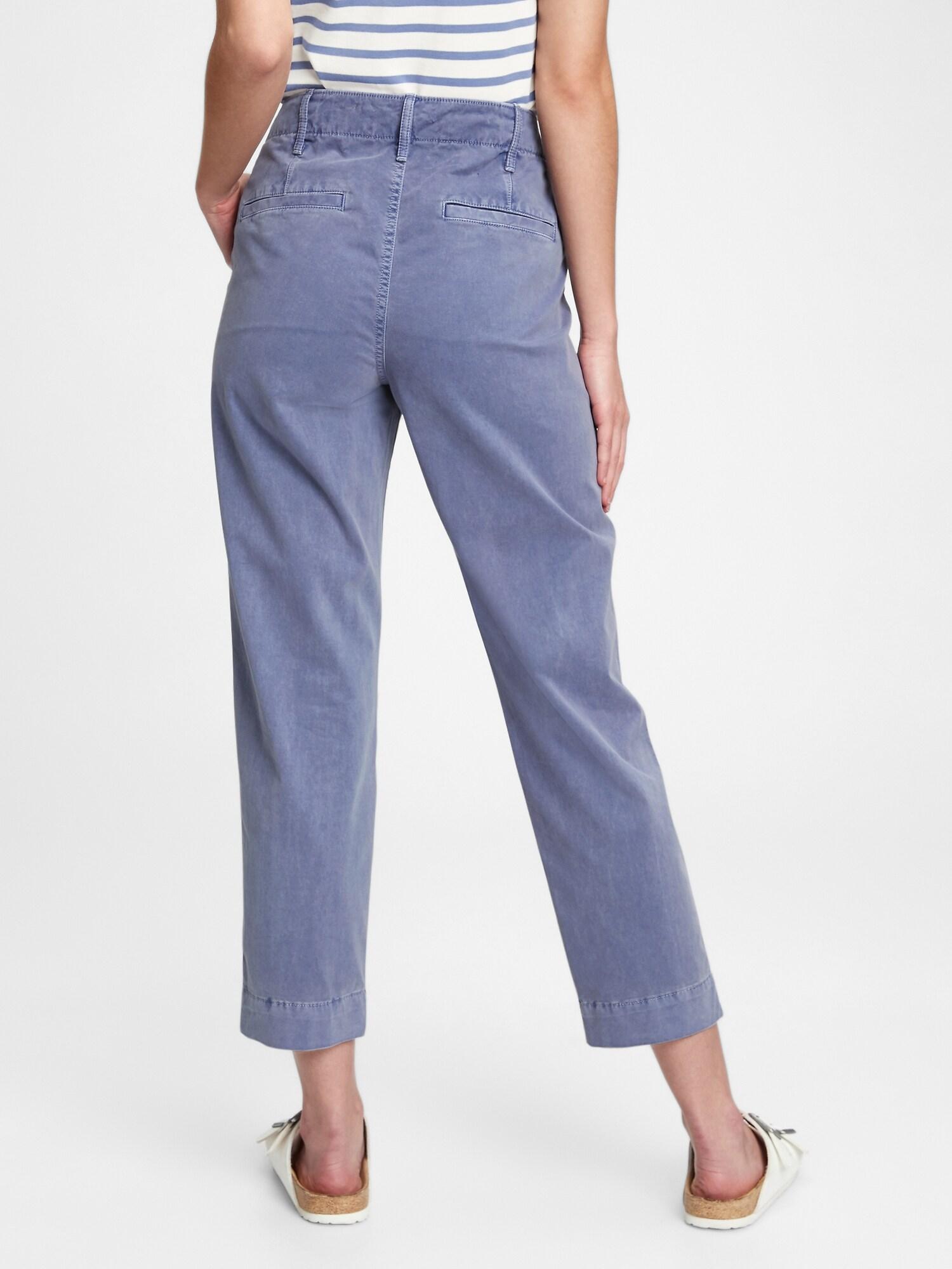 GAP modré kalhoty high rise straight