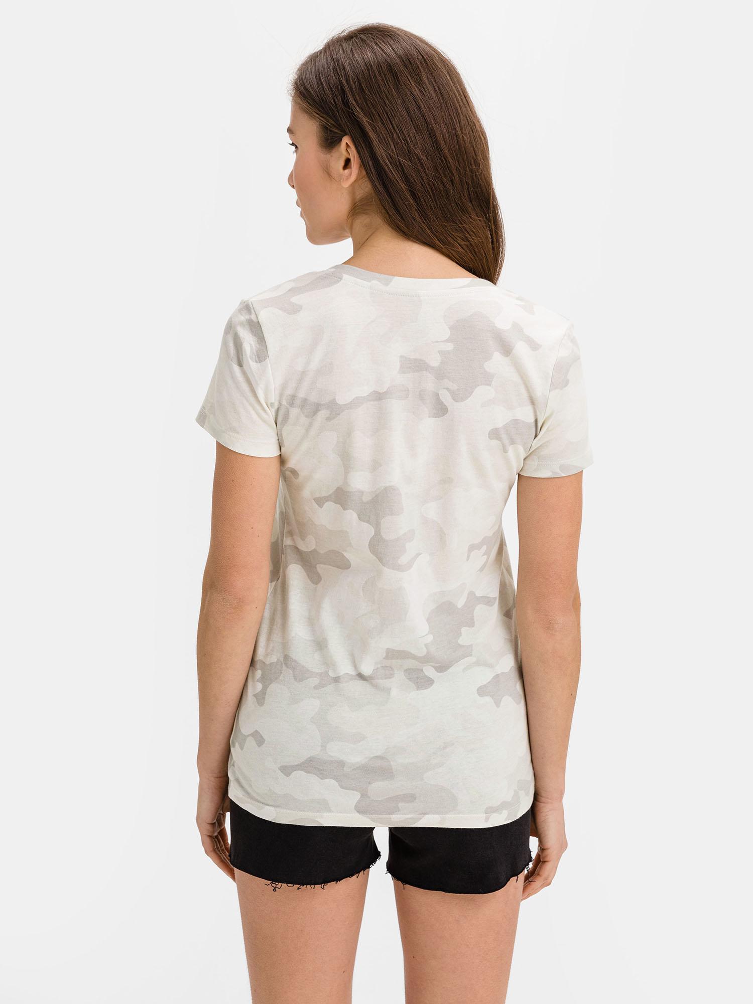 GAP šedé tričko se vzorem