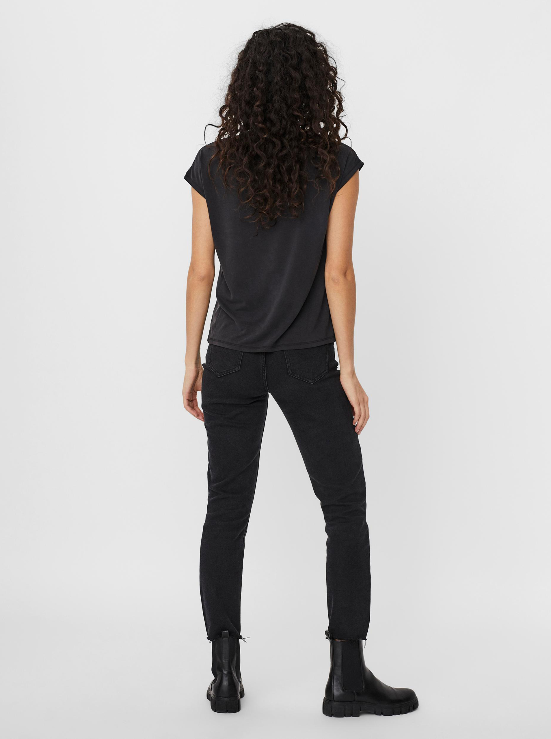 Vero Moda černé tričko Filli