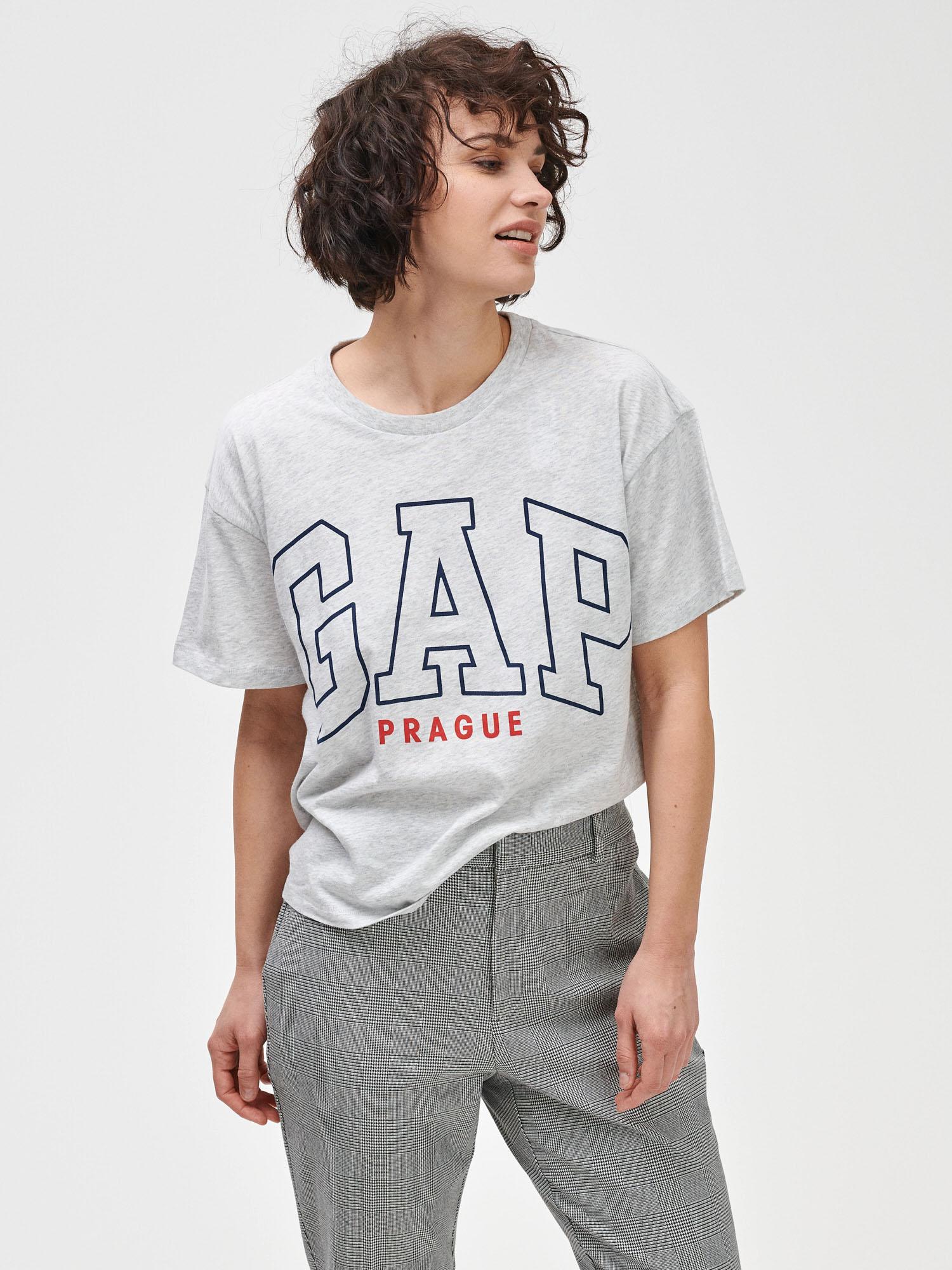 GAP šedé tričko Prague