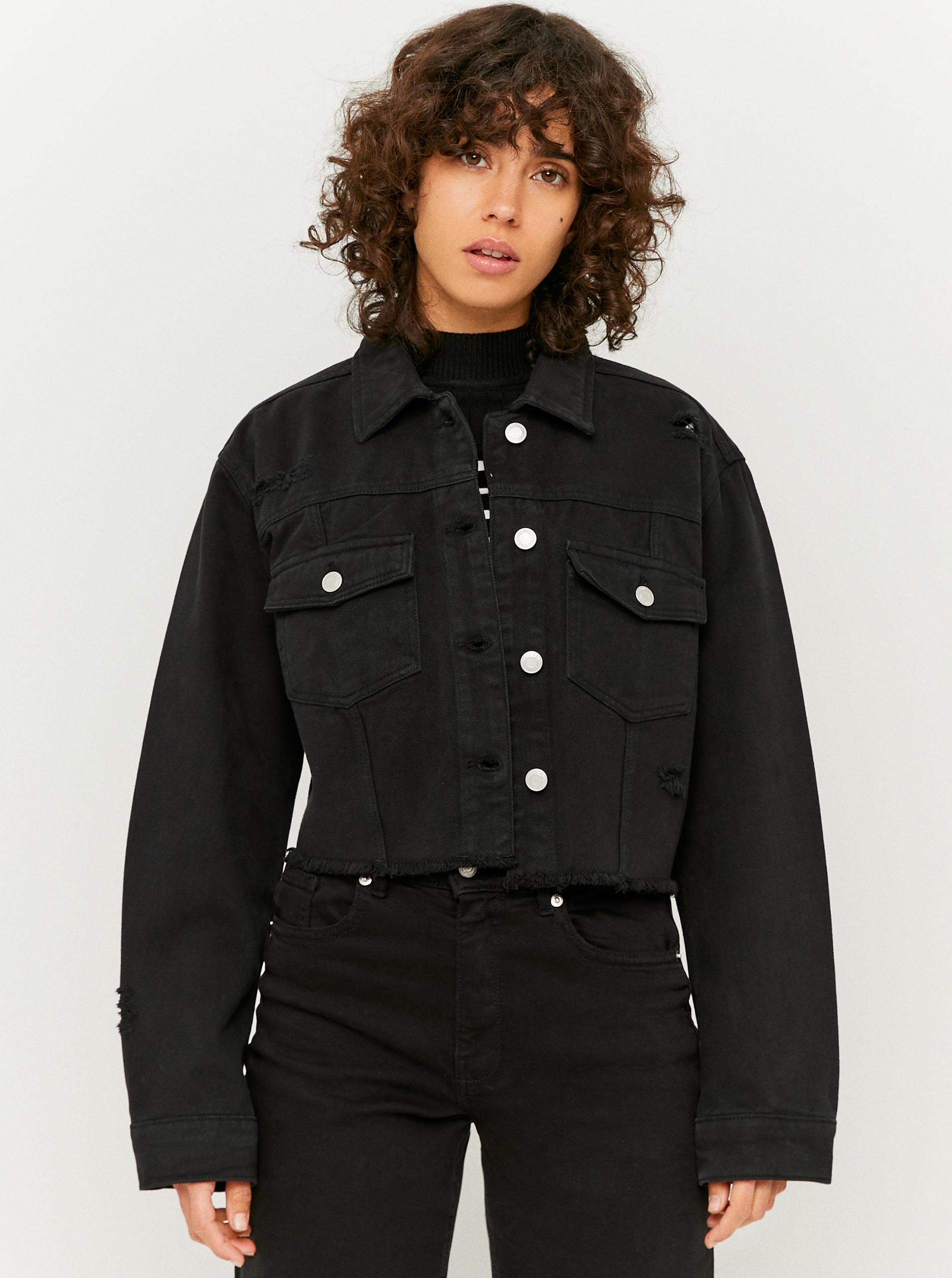 Tally Weijl černé džínová krátká bunda - S
