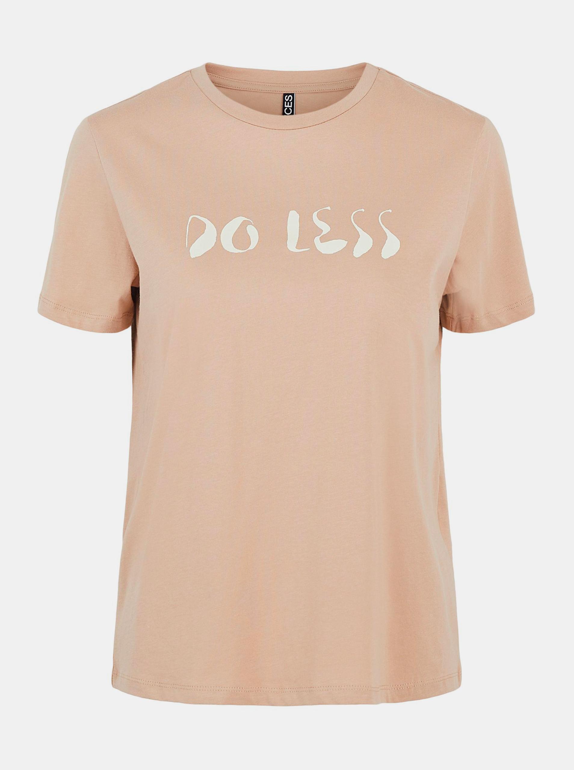 Pieces hnědé dámské tričko Liwy