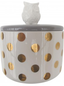 Disaster retro dóza se sovou Spotty Owl Jar