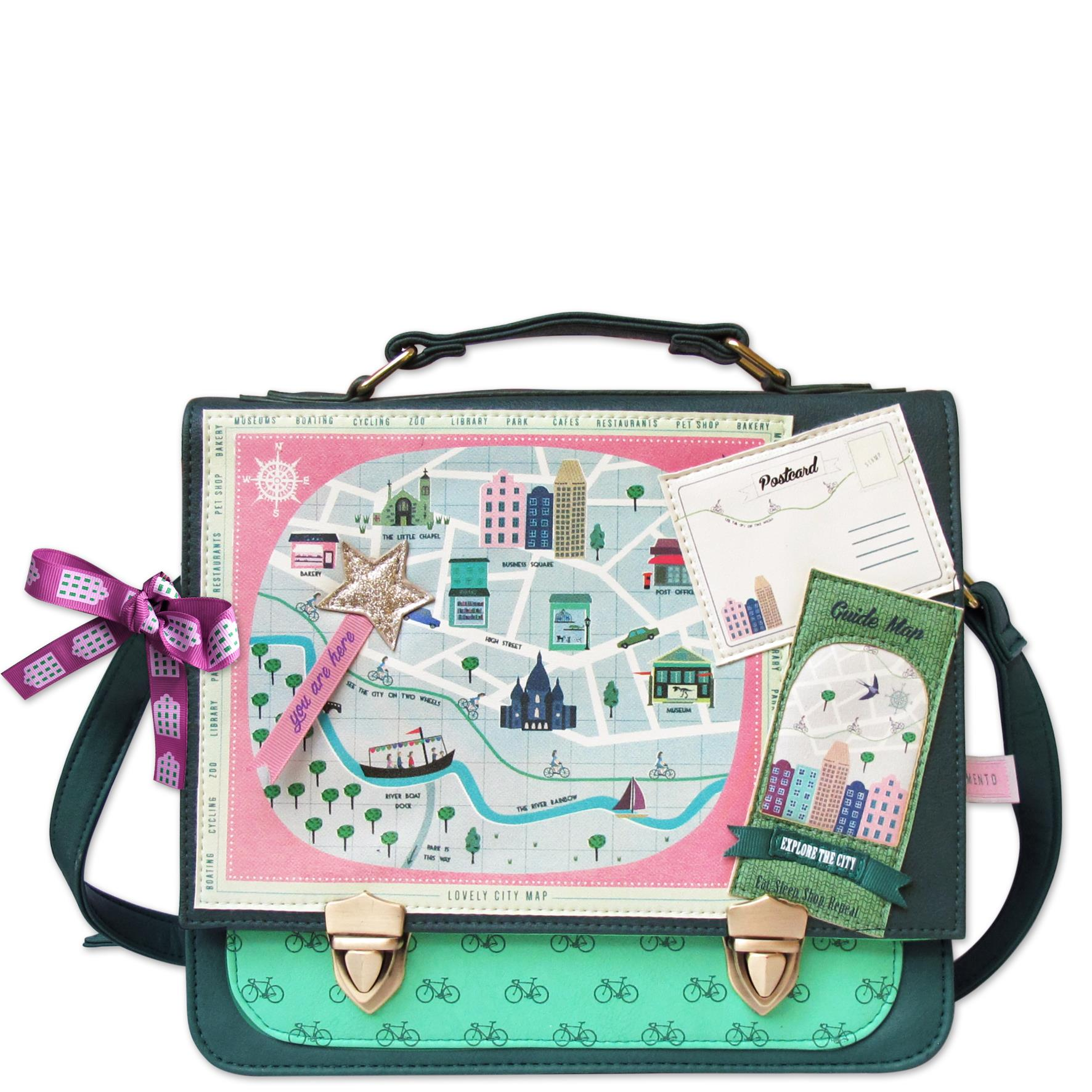Disaster Designs zelená kabelka Memento City Satchel