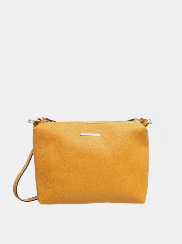 Bessie London hořčicová 3v1 kabelka s pouzdrem a ozdobným šátkem