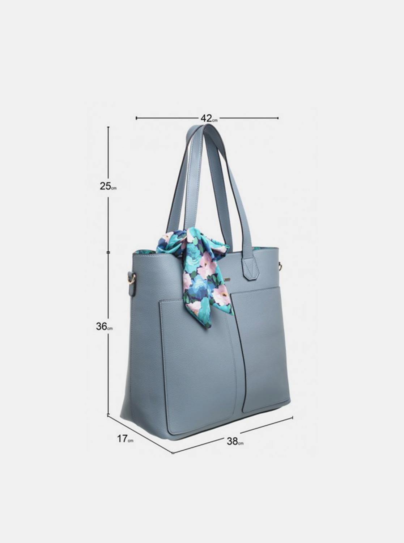 Bessie London modrá 3v1 kabelka s pouzdrem a ozdobným šátkem