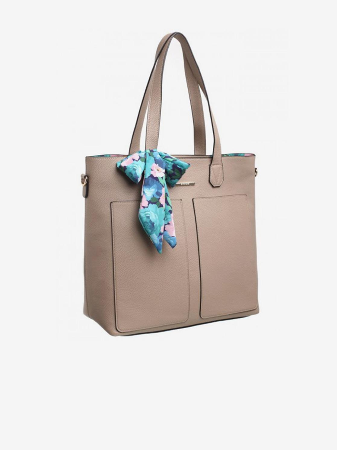 Bessie London béžová 3v1 kabelka s pouzdrem a ozdobným šátkem