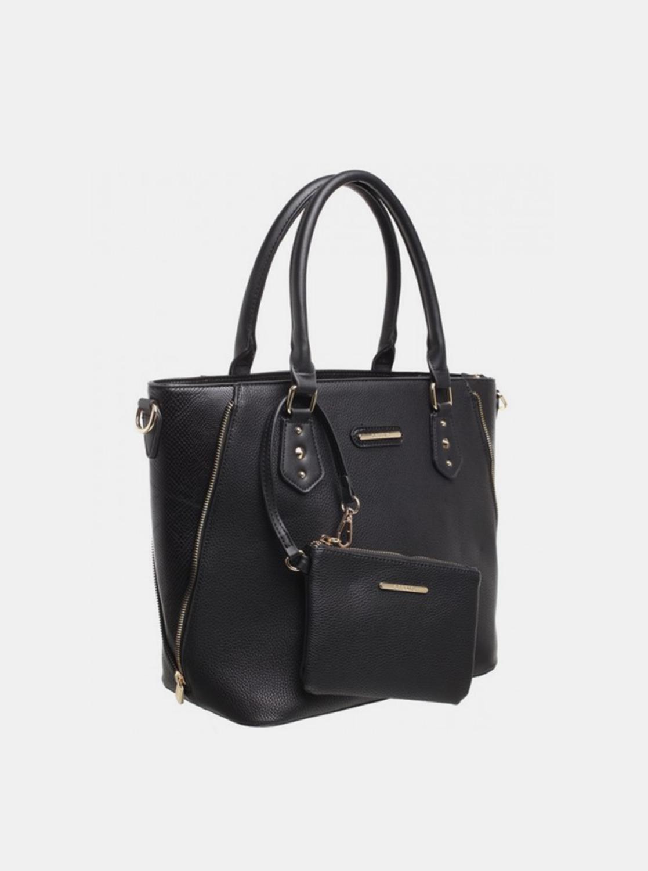 Bessie London černá 2v1 kabelka s malým pouzdrem